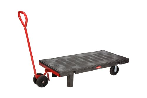 Rubbermaid-Commercial-FG449500BLA-Semi-Live-Skid-Platform-Truck-2000-Pound-Capacity