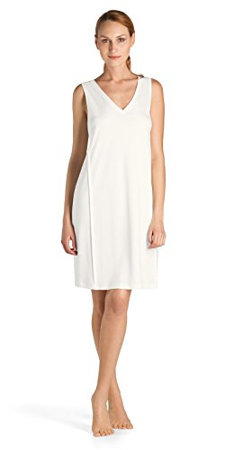 Hanro Women's Pure Essence Tank Gown, Off White, X-Small