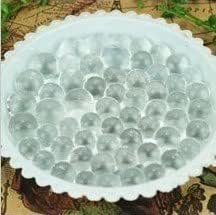 Luxbon 2 MM 100pcs Gel Water Beads Vase Soil Jelly Pearls Balls Color Transparent