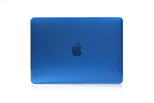 Cover Transparent Fashion MacBook Air,YiMiky Ultra-Thin Plastic Hard Shell Simple Men Lightweight Case Protection for MacBook Air 13 Inch with Retina Display Model A1369 and A1466(Deep Blue)