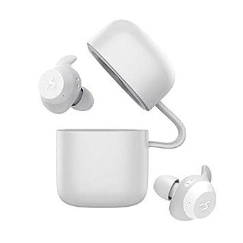HAVIT TWS - Auriculares Inalámbricos 21 Horas Auriculares Bluetooth con Cargador Portátil Soporte de Inteligencia Artificial y Resistente al Agua (Blanco): ...