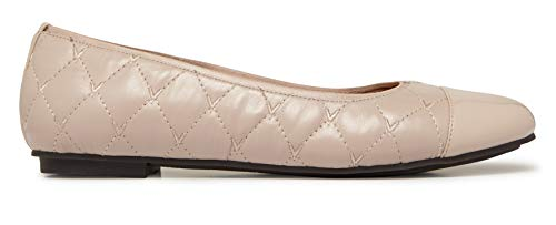 Vionic Women's Spark Desiree Ballet Flat - Ladies Flats with Concealed Orthotic Arch Support Nude 6.5 M US