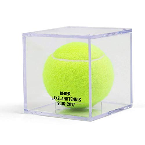 - ChalkTalkSPORTS Personalized Square Acrylic Display Case | Tennis Ball Holder | Single