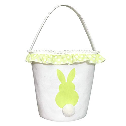 - Easter Bunny Basket Bags - Easter Baskets for Kids - Bunny Canvas Tote Bag Bucket for Easter Eggs, Toys, Candy, Gifts