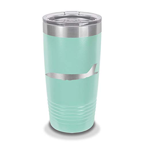 (KC-135 Stratotanker 20 oz Laser Engraved Polar Camel Stainless Steel Vacuum Insulated Tumbler w/Clear Lid KC 135 aerial refuelling USAF - Customizable - Teal)
