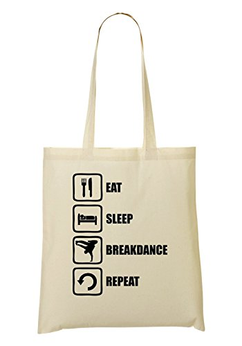 Sac Dance Fourre Repeat Graphic tout provisions Sac Funny Eat à Breakdance Sleep xnagYg