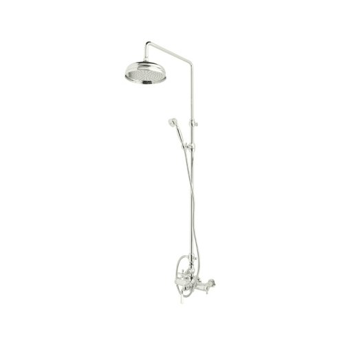 Rohl AKIT48173LMPN Kit Palladian Exposed Thermostatic Shower Package with Palladian Metal Levers - includes A4817LM 1560 1105/8 and 1037/8, Polished Nickel by Rohl