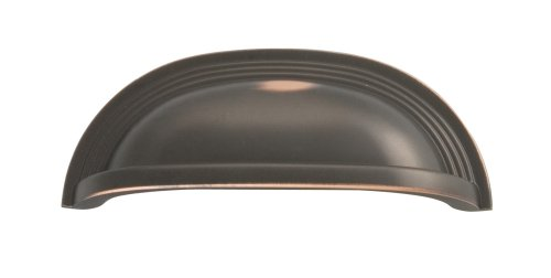 Hickory Hardware P3104-OBH Deco Cabinet Cup Pull, 3.78-Inch, Oil-Rubbed Bronze Highlighted - Hickory Hardware Pull