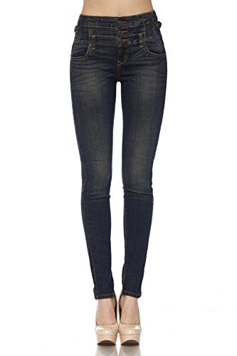FASHION BOOMY Women's High Waisted Stretch Skinny Denim - Petite Jeans Lined