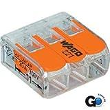 Wago 221-413 LEVER-NUTS 3 Conductor Compact Connectors 100 PK