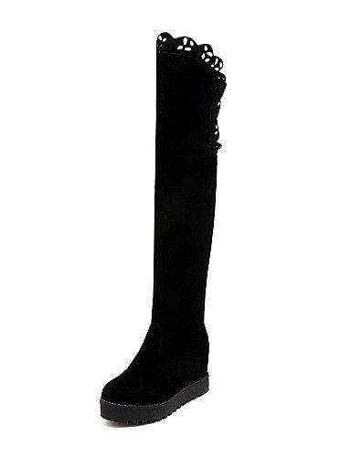 A Cn39 Moda Black Noche De Y Fiesta Uk5 us8 Tacón Cn38 Cuña us7 La 5 Botas Sintético Uk6 5 Negro Vestido Casual Black Mujer Ante Xzz Eu38 Zapatos Eu39 1T8qY