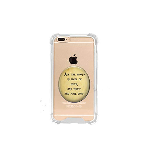 Peter Pan Jewellery - Book Quote - All The World is Faith and Trust and Pixie dust - Literary Quote Jewelry - Literature Jewelry - Peter Pan , 3D Printed Soft Clear Cute Ultra Slim Case Unique Customized Gift,Everyday Gift
