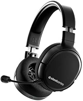SteelSequence Arctis 1 Wireless Gaming Headset – USB-C – Detachable Clearcast Microphone – for PC, PS4, Nintendo Switch and Lite, Android – Black