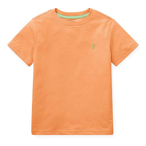Ralph Lauren Little Boys Polo Crewneck Tee Solid (4T, Tropical ()