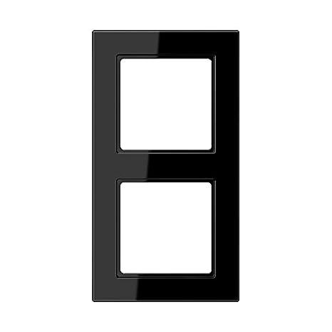 Jung AC582SW - Marco embellecedor montaje vertical horizontal 2 elementos negro: Amazon.es: Bricolaje y herramientas