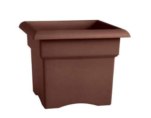 Fiskars 14 Inch Veranda 3 Gallon Box Planter, Color Chocolate (57314CH)