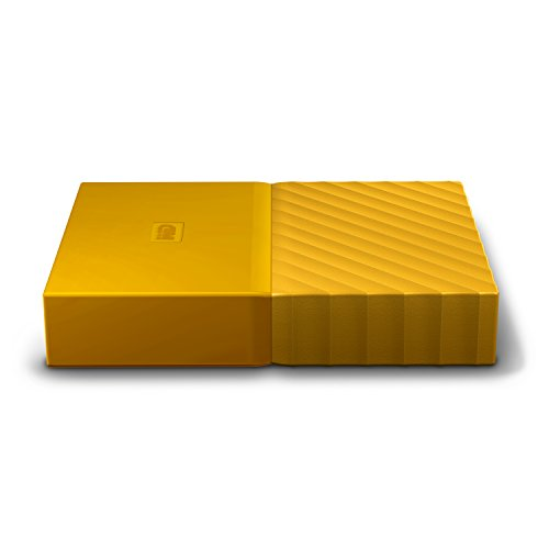 WD 4TB Yellow My Passport Portable External Hard Drive - USB 3.0 - WDBYFT0040BYL-WESN