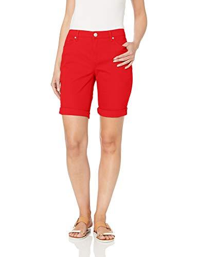 - Gloria Vanderbilt Women's City Short with Rolled Cuff, Macintosh Red, 12