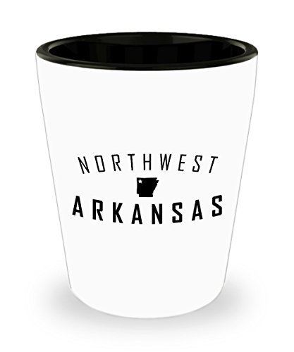 NWArkansas Shot Glass! State Map with Star - Perfect gifts those that Love to Share All Things Northwest Arkansas! ()