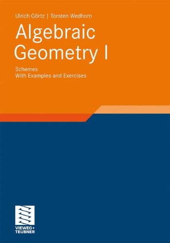 Pdf Math Algebraic Geometry: Part I: Schemes. With Examples and Exercises (Advanced Lectures in Mathematics)