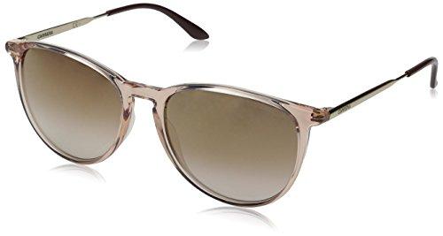 Carrera CA5030S Square Sunglasses, Pink Gold/Brown Mirror Gold, 54 - Sunglasses Carrera Gold