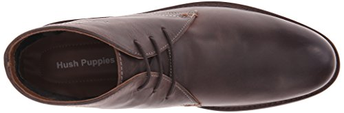 Hush Puppies Benson Rigby, Stivale da Uomo Dark Brown