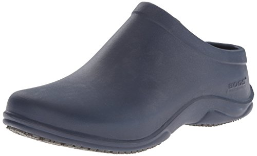 Bogs Women's Stewart Slip Resistant Work Shoe, Dark Blue, 7 M US