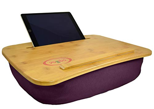 The Perfect LapTop or Tablet Lap Desk - Bamboo Top- Built in Slot for iPad or Phone and Table Top for a Laptop- Idea for Back To School or Home Office. Yogibo Traybo 2.0