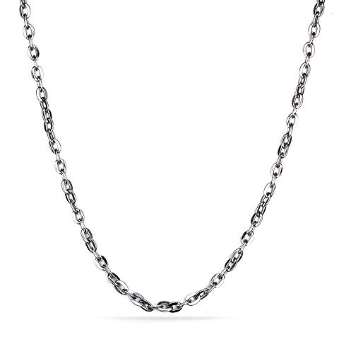 VNOX Stainless Steel Sliver Cable Chain Necklace for Men Women Pendant Accessory Chain 2.4mm,24