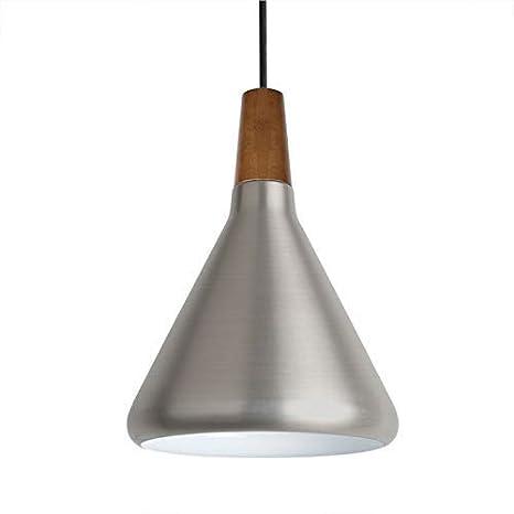 diolumia - Colgante cónico de metal liso - estilo industrial ...