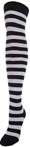 Black 6 Women's Over Stripe Sock High Colors Assorted Pack Socks 11 Size Ann 1 J Or Pair 9 B Color Knee C5WTB4q
