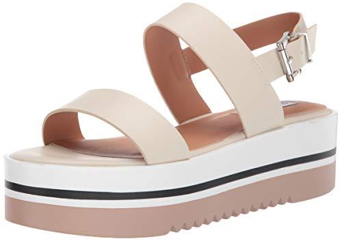 Steve Madden Women's Adora Sandal, Bone, 8 M US