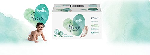 Diapers Newborn (68 Count) - Pampers Pure Disposable Baby Diapers, Hypoallergenic and Unscented Protection, Super Pack