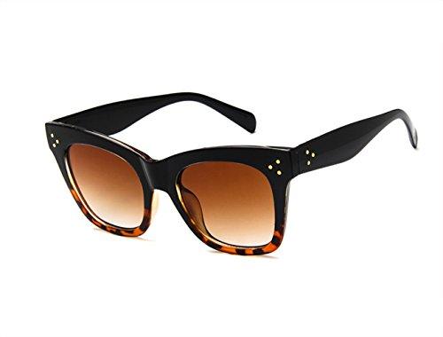 Oversized Women Celebrity Fashion Sunglasses, Bold Flat Lens - UV400 ()