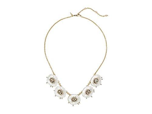 Alexis Bittar Crystal and Stone Studded Small Liquid Silk Bib Chain Necklace