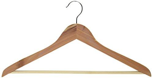Woodlore Cedar Hangers - Woodlore 84008 Basic Cedar Hangers with Bar, Set of 5