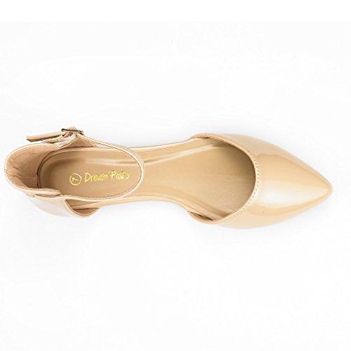 DREAM PAIRS FLAPOINTED Frauen Casual D'Orsay wies Plain Ballett Comfort Soft Slip auf Wohnungen Schuhe neu Knöchel-nackt Pat