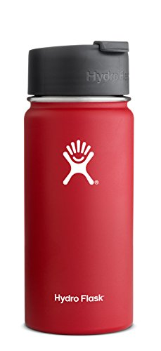 Hydro Flask Wide Mouth Stainless Steel Drinking Bottle with Hydro Flip Cap, Lychee Red, 18-Ounce by Hydro Flask