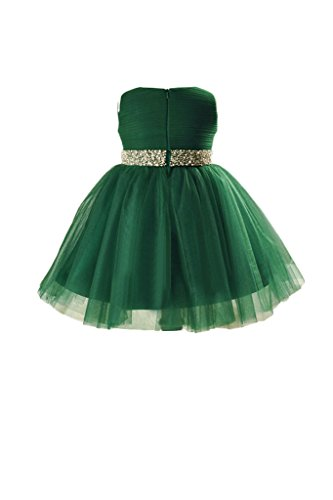 31qm1rMfZzL buy the best video games- Vienna Bride Lovely Baby Girls' Tulle Flower Girl Dress for Wedding Pageant-child 2-Dark Green