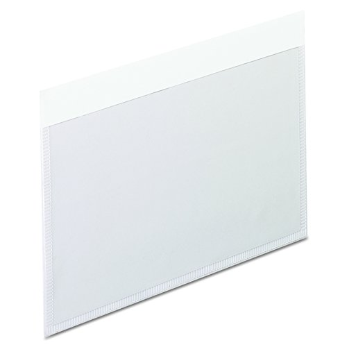 Pendaflex 99375 Self-Adhesive Vinyl Pockets, Clear Front/White Backing, 3w x 5h, -