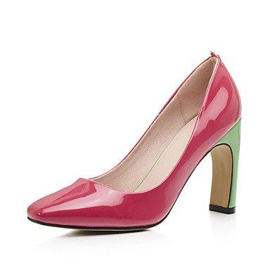 Zapatos de tacones de las mujeres Primavera Verano Otoño Invierno Comfort cuero sintético oficina y carrera Fiesta y vestido de noche de tacón grueso Otros Verde Rojo Otros Red