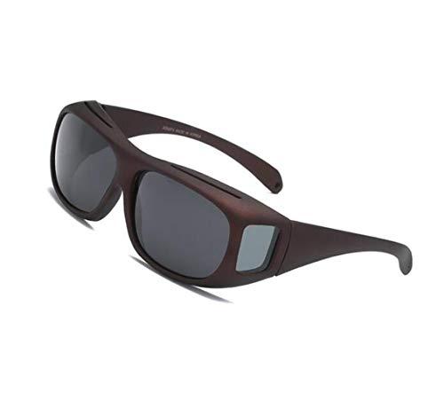 Gafas UV400 Grey sol Guay Outdoor de sol para de Conducción Big sol Frame Gafas de Protección Ciclismo Mujeres Huyizhi Hombres Sol Dark Gafas Gafas Polarizadas viajar de TzOFqZWq6