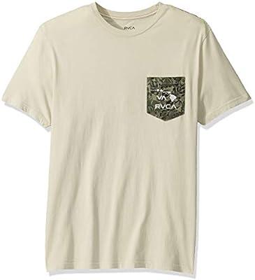 RVCA Mens PTC Leaf Short Sleeve Crew Neck Shirt