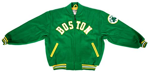 Boston Celtics Men's Wool Hardwood Classic Jacket by Mitchell and Ness (Large)