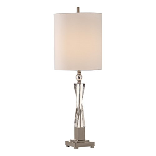 Uttermost Twyla Twisted Crystal Column Buffet Table Lamp