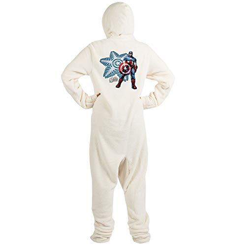 CafePress Holiday Captain America Novelty Footed Pajamas, Funny Adult One-Piece PJ Sleepwear -