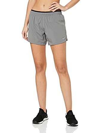 "Nike Australia Women's Elevate 5"" Running Shorts, Gunsmoke/Black, XS"