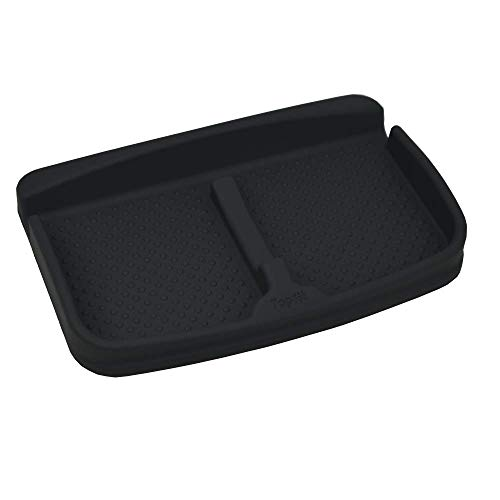 (Universal Car Dash Grip Pad for Cell Phone Anti-Slip Durable Silicone Container Dashboard Pad Storage Mat, Cell Phone Holder, Sun Glasses Stand,GPS Navigation Holder,Cards pad (Black))