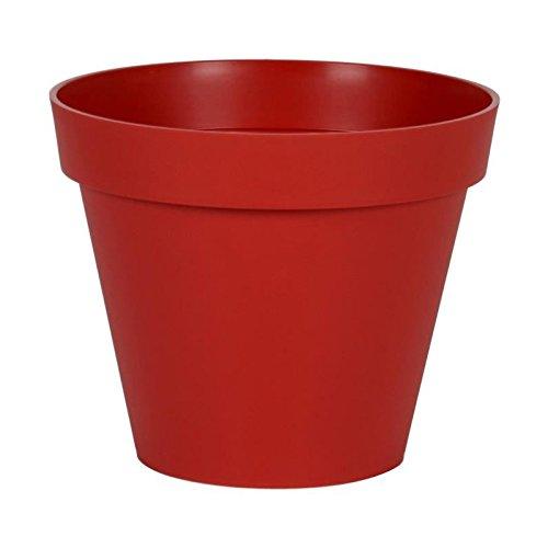 EDA Pot rond Toscane Ø 25cm - Contenance 6l - Rouge rubis EDA PLASTIQUE 3086960236090