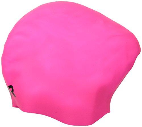 TYR  Long Hair Wrinkle-Free Silicone Swim Cap, - Swim Cap Silicone Black